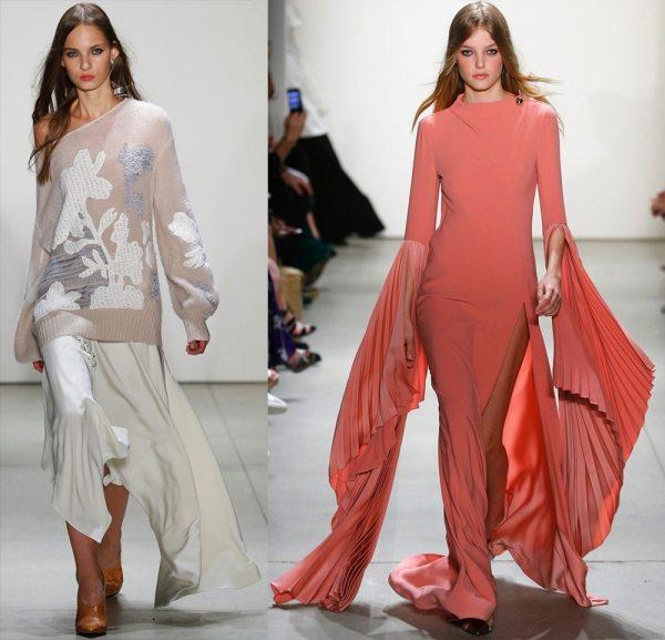 Модная одежда с очень длинными рукавами 2017