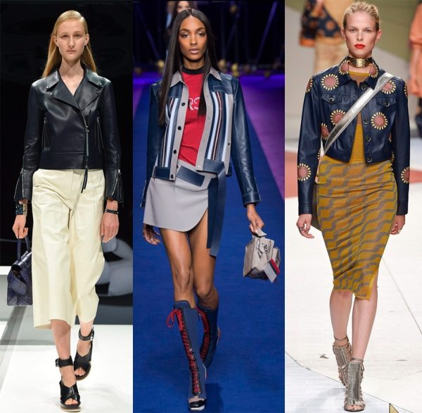 Модные и стильные кожаные куртки и жакеты 2017