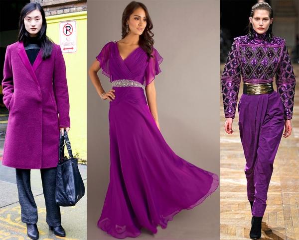 Пурпурный цвет – как выглядят модные образы в пурпуре