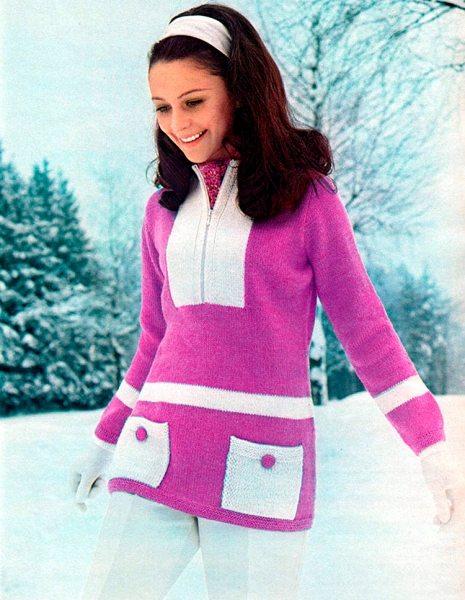 Винтажные женские свитера, кофты и жилеты 1960-1970 годов