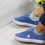 Кроссовки-женские-Converse-All-Star-голубые-4282-1